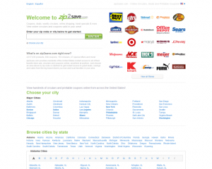 zip2save.com savings coupons comparison shopping review
