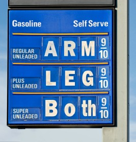 gas prices price for oil too high