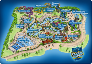 raging waves map