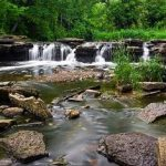 The waterfall at Waterfall Glen Forest Preserve