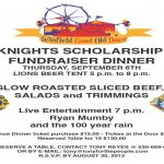 knights of columbus fundraiser dinner in winfield