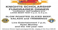 Knights Scholarship Fundraiser BBQ Dinner