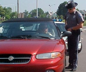 Traffic ticket in DuPage County
